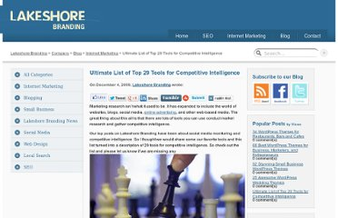 http://www.lakeshorebranding.com/company/blog/ultimate-list-of-top-29-tools-for-competitive-intelligence/