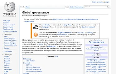 http://en.wikipedia.org/wiki/Global_governance