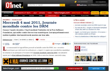 http://www.01net.com/editorial/532277/mercredi-4-mai-2011-journee-mondiale-contre-les-drm/