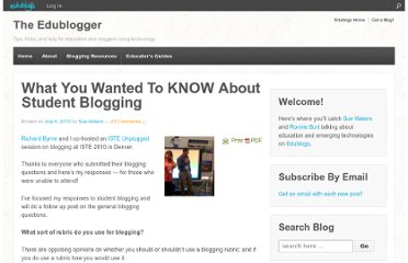 http://theedublogger.com/2010/07/06/what-you-wanted-to-know-about-student-blogging/