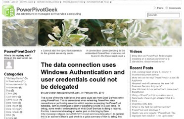 http://powerpivotgeek.com/2010/02/08/the-data-connection-uses-windows-authentication-and-user-credentials-could-not-be-delegated/