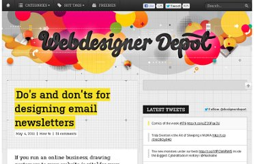 http://www.webdesignerdepot.com/2011/05/dos-and-donts-for-designing-email-newsletters/