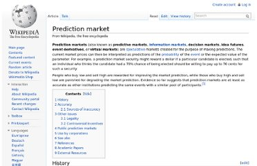 http://en.wikipedia.org/wiki/Prediction_market
