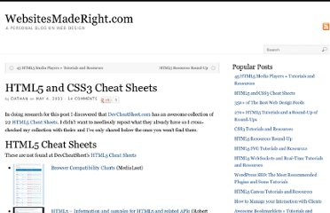 http://websitesmaderight.com/2011/05/html5-and-css3-cheat-sheets/