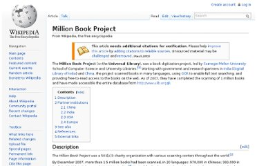 http://en.wikipedia.org/wiki/Million_Book_Project