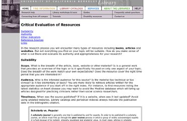 http://www.lib.berkeley.edu/instruct/guides/evaluation.html