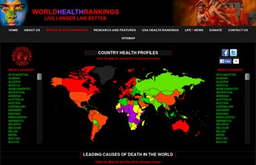 http://www.worldlifeexpectancy.com/world-health-rankings