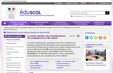 http://eduscol.education.fr/cid45625/socle-commun.html