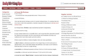 http://www.dailywritingtips.com/a-novel-is-fiction/