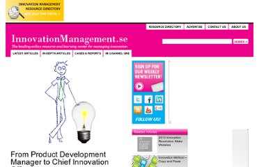 http://www.innovationmanagement.se/2011/04/15/from-project-development-manager-to-chief-innovation-officer/#disqus_thread