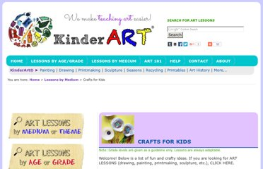 http://www.kinderart.com/crafts/
