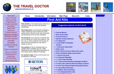http://www.traveldoctor.co.uk/firstaidkit.htm