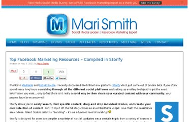 http://www.marismith.com/facebook-marketing-resources-compiled-storify/