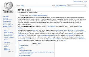 http://en.wikipedia.org/wiki/Off-the-grid