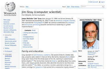 http://en.wikipedia.org/wiki/Jim_Gray_(computer_scientist)
