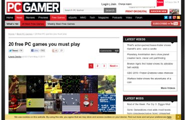 http://www.pcgamer.com/2011/05/03/20-free-pc-games-you-must-play/