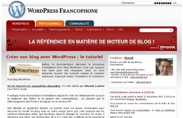 http://www.wordpress-fr.net/2007/12/11/creer-son-blog-avec-wordpress-le-tutoriel/