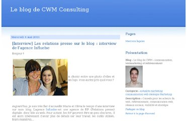 http://cwm-consulting.over-blog.com/article-interview-les-relations-presse-sur-le-blog-interview-de-l-agence-influelse-73137053.html