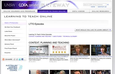 http://online.cofa.unsw.edu.au/learning-to-teach-online/ltto-episodes