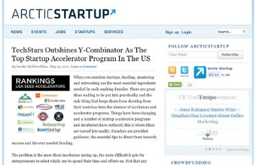 http://www.arcticstartup.com/2011/05/05/techstars-outshines-y-combinator-as-the-top-startup-accelerator-program-in-the-us