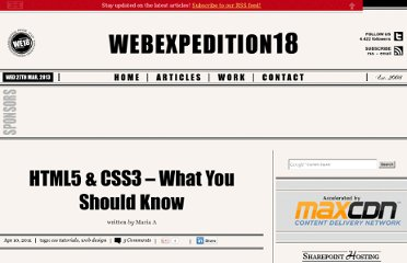 http://webexpedition18.com/articles/html5-css3-what-you-should-know/