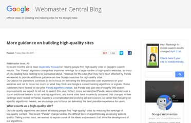 http://googlewebmastercentral.blogspot.com/2011/05/more-guidance-on-building-high-quality.html