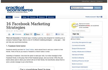 http://www.practicalecommerce.com/articles/2757-16-Facebook-Marketing-Strategies
