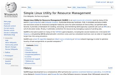 http://en.wikipedia.org/wiki/Simple_Linux_Utility_for_Resource_Management