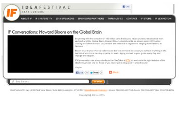 http://www.ideafestival.com/index.php?option=com_content&view=article&id=7010:howard-bloom&catid=39:if-blog