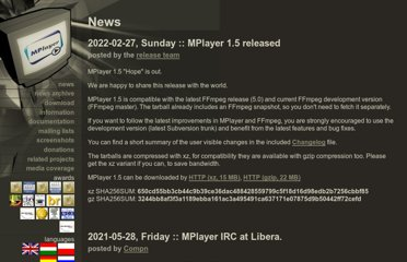 http://www.mplayerhq.hu/design7/news.html