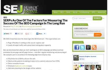 http://www.searchenginejournal.com/the-discussion-about-serps-as-one-of-the-factors-for-measuring-the-success-of-the-seo-campaign-in-the-long-run/29533/