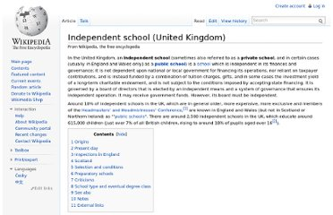 http://en.wikipedia.org/wiki/Independent_school_(United_Kingdom)