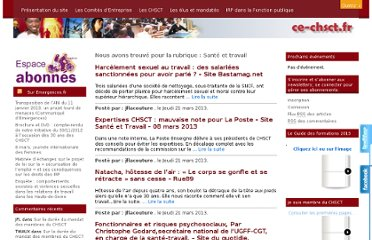 http://www2.emergences.fr/blog/?category_name=sante-travail