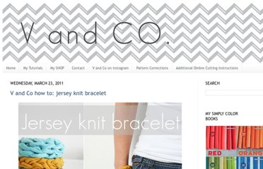 http://www.vanessachristenson.com/2011/03/v-and-co-how-to-jersey-knit-bracelet.html