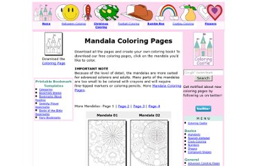 http://www.coloringcastle.com/mandala_coloring_pages.html