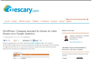 http://descary.com/wordpress-comment-mesurer-la-vitesse-de-votre-blogue-avec-google-analytics/
