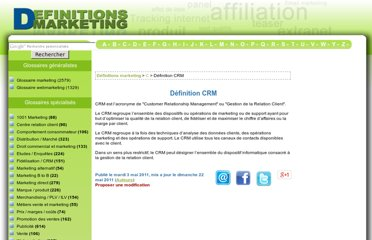http://www.definitions-marketing.com/Definition-CRM