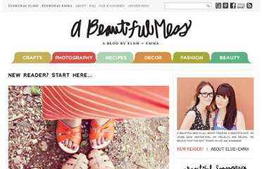 http://abeautifulmess.typepad.com/my_weblog/new-reader-start-here.html