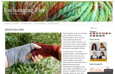 http://exchangingfire.wordpress.com/knitting-patterns/ishbel-elena-mitts/