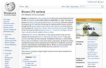 http://en.wikipedia.org/wiki/Bones_(TV_series)