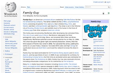 http://en.wikipedia.org/wiki/Family_Guy