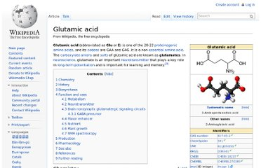 http://en.wikipedia.org/wiki/Glutamic_acid
