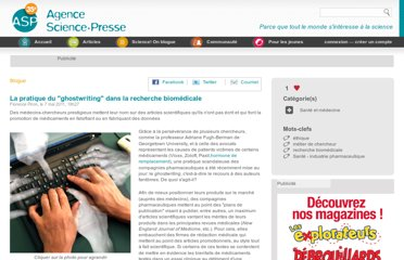 http://www.sciencepresse.qc.ca/blogue/2011/05/07/pratique-ghostwriting-recherche-biomedicale