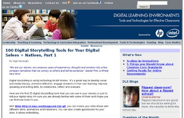 http://www.guide2digitallearning.com/tools_technologies/100_digital_storytelling_tools_your_digital_selves_natives_part_1