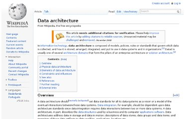 http://en.wikipedia.org/wiki/Data_architecture