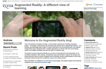 http://blogs.exeter.ac.uk/augmentedreality/