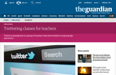 http://www.guardian.co.uk/education/2011/may/09/twitter-teachers-forum