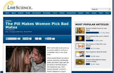 http://www.livescience.com/2781-pill-women-pick-bad-mates.html