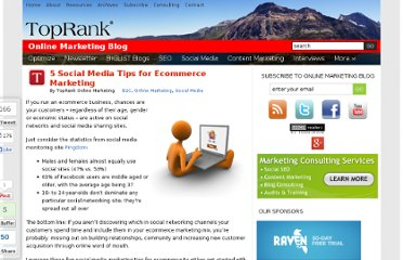 http://www.toprankblog.com/2010/03/ecommerce-marketing-social-media-tips/