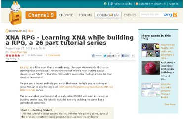 http://channel9.msdn.com/coding4fun/blog/XNA-RPG-Learning-XNA-while-building-a-RPG-a-26-part-tutorial-series
